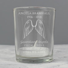 Load image into Gallery viewer, Personalised Angel Wings Votive Candle Holder