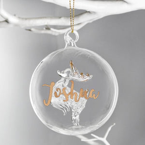 You added Personalised Christmas Tree Bauble, Glass with Reindeer & Gold Glitter Name to your cart.