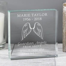 Load image into Gallery viewer, Personalised Angel Wings Large Crystal Token