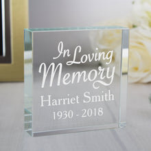 Load image into Gallery viewer, Personalised 'In Loving Memory' Crystal Token