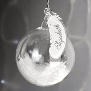You added Personalised White Feather Glass Bauble to your cart.