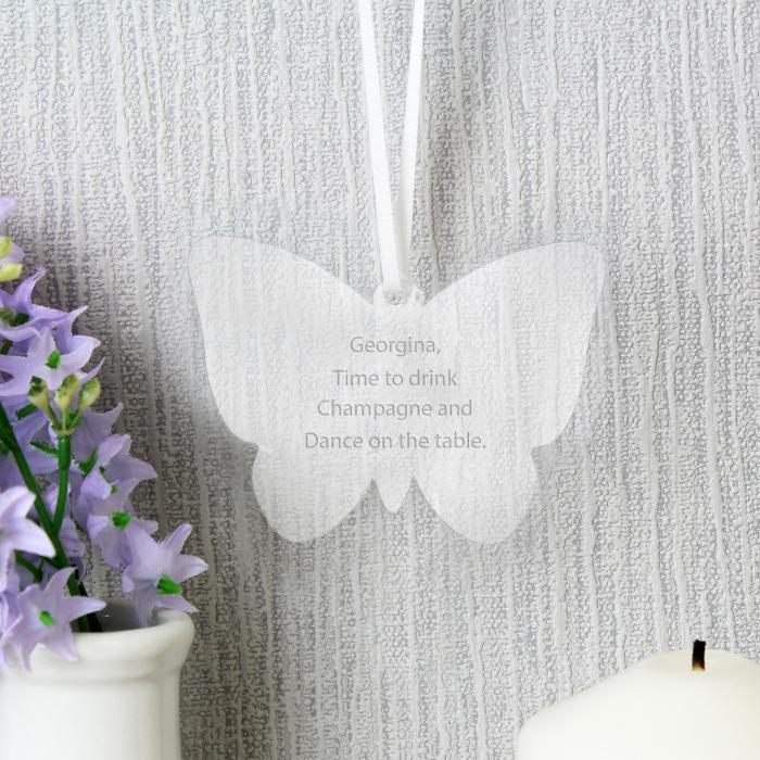Personalised Acrylic Butterfly Decoration - any message