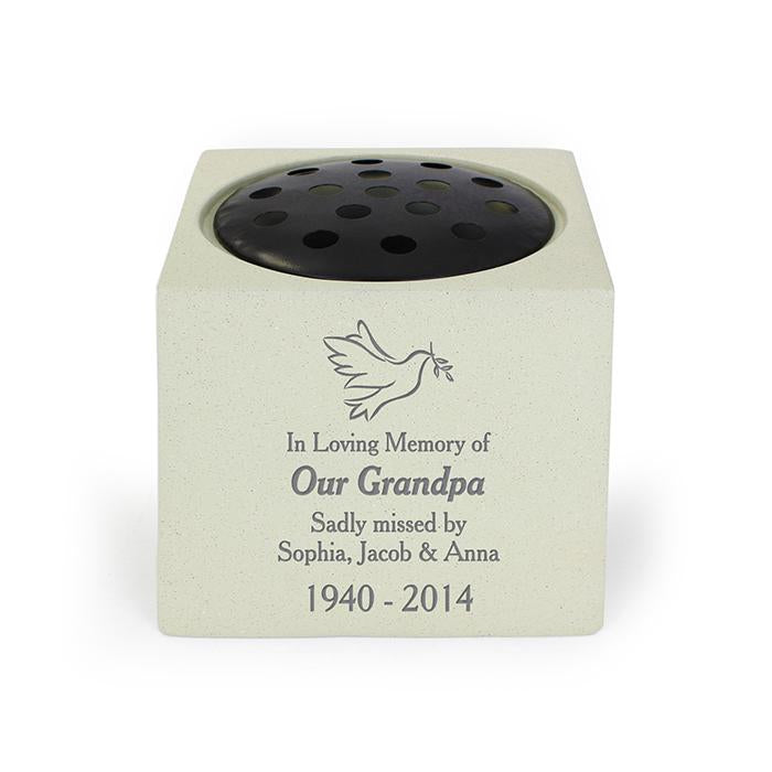 Personalised Dove Memorial Vase