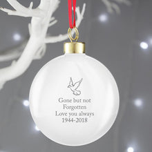 Load image into Gallery viewer, Personalised 'In Loving Memory' Christmas Bauble - Blue