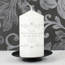 Load image into Gallery viewer, Personalised Sentiments Pillar Candle - Your Message