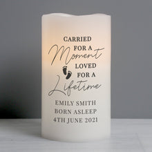 Load image into Gallery viewer, Personalised Carried For A Moment Led Candle