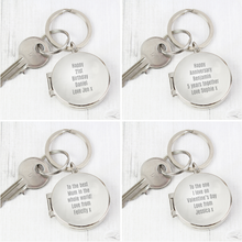 Load image into Gallery viewer, Personalised Photo Keyring - Any Message/Occasion