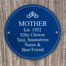 Load image into Gallery viewer, Personalised Indoor or Outdoor Heritage Plaque