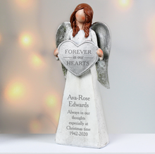 Load image into Gallery viewer, Personalised Forever In Our Hearts Memorial Angel Ornament
