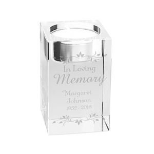 In Loving Memory Sentiments Tea Light Candle Holder