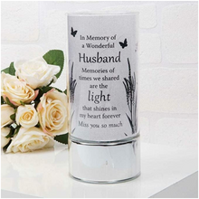 Load image into Gallery viewer, Thoughts of You Memorial Tube Light - Husband