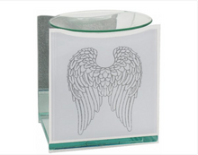 Load image into Gallery viewer, Remembrance wax melt burner, Glass, Angel Wings Motif
