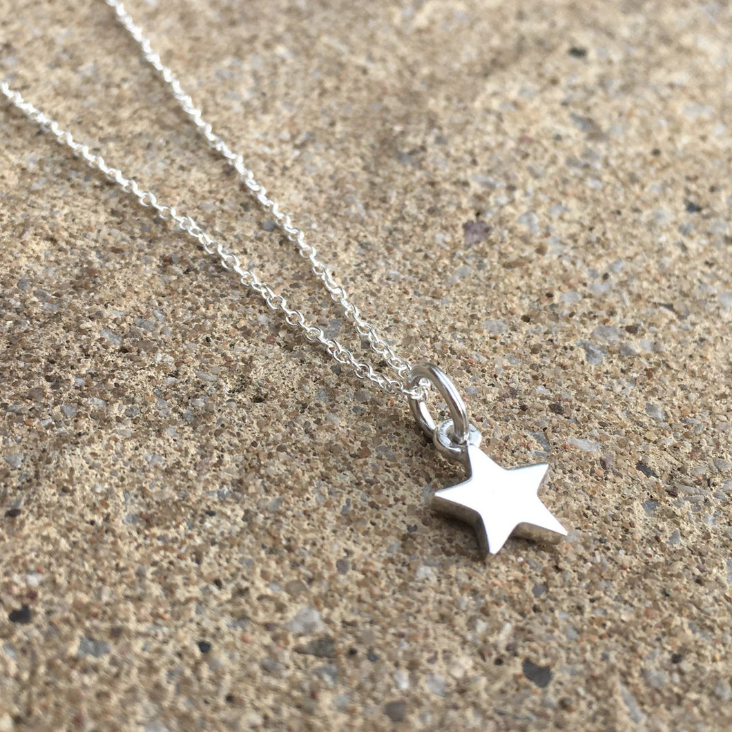 Sterling Silver Star Necklace Create Your Own Personalised Gift Box