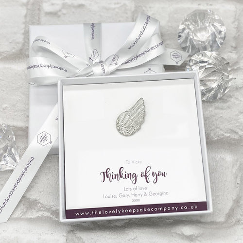 Wing Token Personalised Gift Box - Various Thoughtful Messages