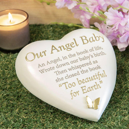Thoughts  of you Grave Marker Memorial Heart- Our Angel Baby
