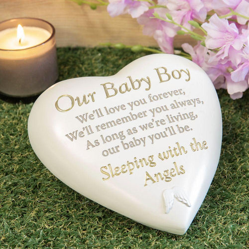 Thoughts of you Grave Marker Memorial Heart- Our Baby Boy