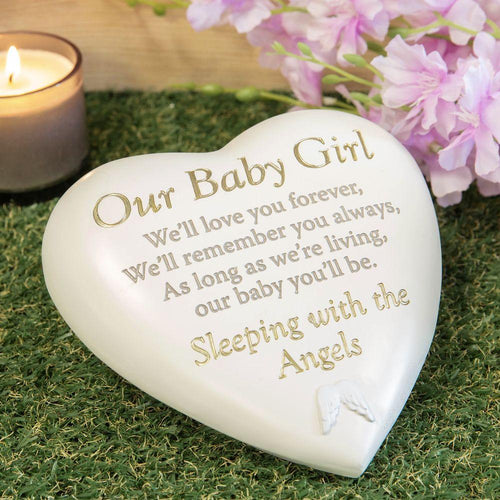 Thoughts of you Grave Marker Memorial Heart- Our Baby Girl