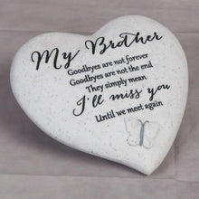 Load image into Gallery viewer, Thoughts of you Grave Marker Memorial Heart- Brother