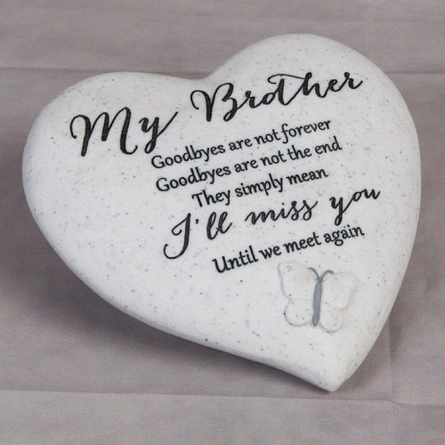 Thoughts of you Grave Marker Memorial Heart- Brother