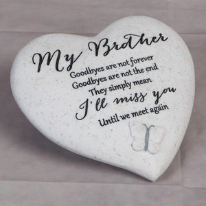 You added Thoughts of you Grave Marker Memorial Heart- Brother to your cart.