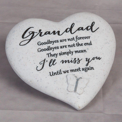 Thoughts of you Grave Marker Memorial Heart- Grandad