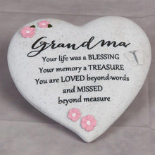Load image into Gallery viewer, Thoughts of you Grave Marker Memorial Heart- Grandma