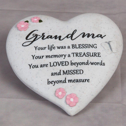 Thoughts of you Grave Marker Memorial Heart- Grandma