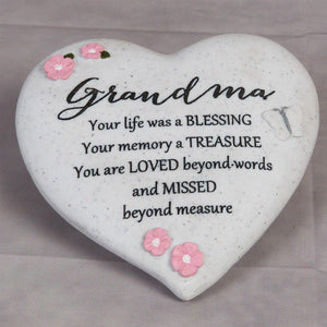 You added Thoughts of you Grave Marker Memorial Heart- Grandma to your cart.
