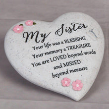Load image into Gallery viewer, Thoughts of you Grave Marker Memorial Heart- Sister