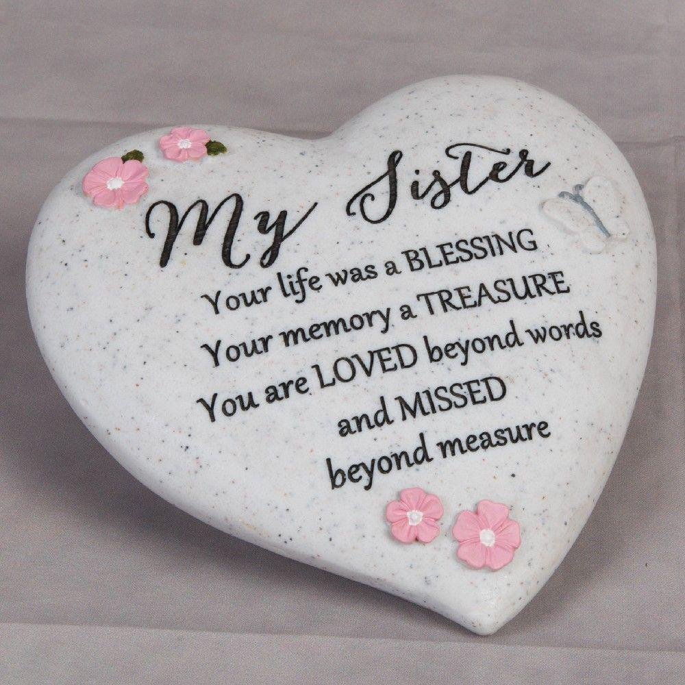 Thoughts of you Grave Marker Memorial Heart- Sister