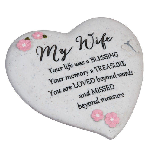 Thoughts of you Grave Marker Memorial Heart- My Wife