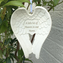 Load image into Gallery viewer, A Little Bit Of Heaven In Our Home Hanging Angel Wings