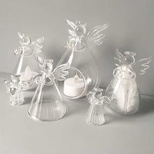 Load image into Gallery viewer, Glass Memorial Angel Candle Holder/Vase
