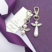 Load image into Gallery viewer, Small Memorial Guardian Angel Keyring