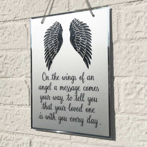You added Condolence Mirror. Angel Wings Motif. 'Your Loved One Is With You Every Day.' to your cart.