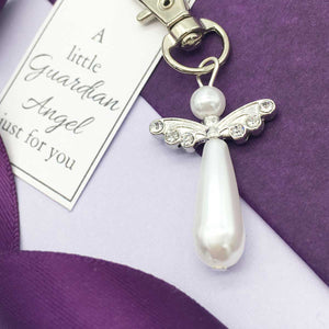 Memorial Guardian Angel Keyring