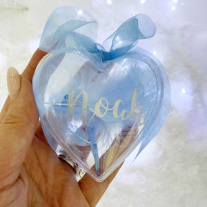 You added Personalised Blue Feather Filled Heart Bauble to your cart.