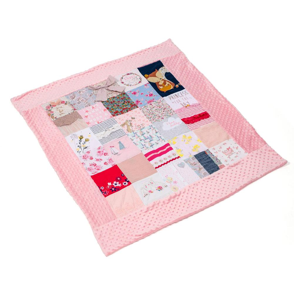 Your Clothes Patchwork Bobble Blanket