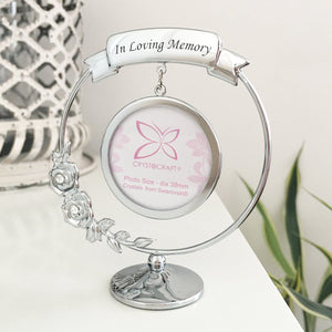 In Loving Memory Photograph Crystocraft Ornament