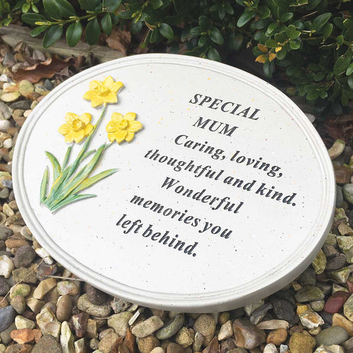 Daffodil Outdoor Memorial Plaque - Mum