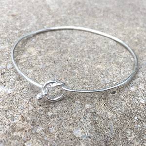 Sterling Silver Friendship Knot Bangle Create Your Own Personalised Gift Box
