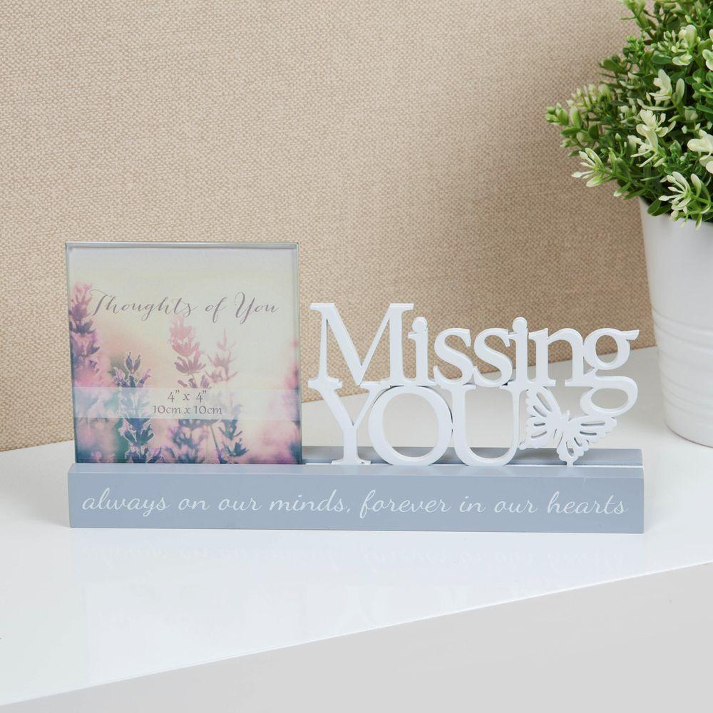Missing You Memorial Photo Frame