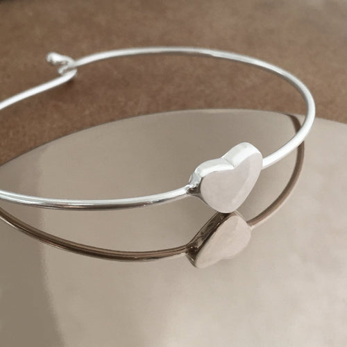 Sterling Silver Heart Bangle Create Your Own Personalised Gift Box