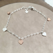 Load image into Gallery viewer, Sterling Silver Hearts Bracelet Create Your Own Personalised Gift Box
