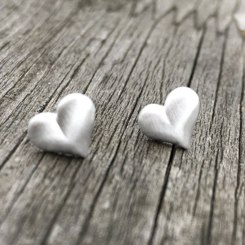 Sterling Silver Heart Stud Earrings Create Your Own Personalised Gift Box