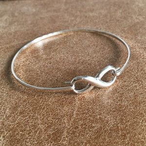 Sterling Silver Infinity Bangle Create Your Own Personalised Gift Box