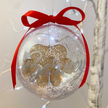 Load image into Gallery viewer, Pawprint 10cm Pet Memorial Bauble