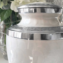 Load image into Gallery viewer, Pearlescent/Silver Adult Cremation Urn For Ashes