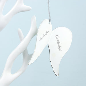 In Loving Memory Angel Wings Keepsake