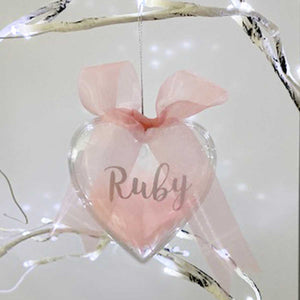 You added Personalised Pink Feather Filled Heart Bauble to your cart.